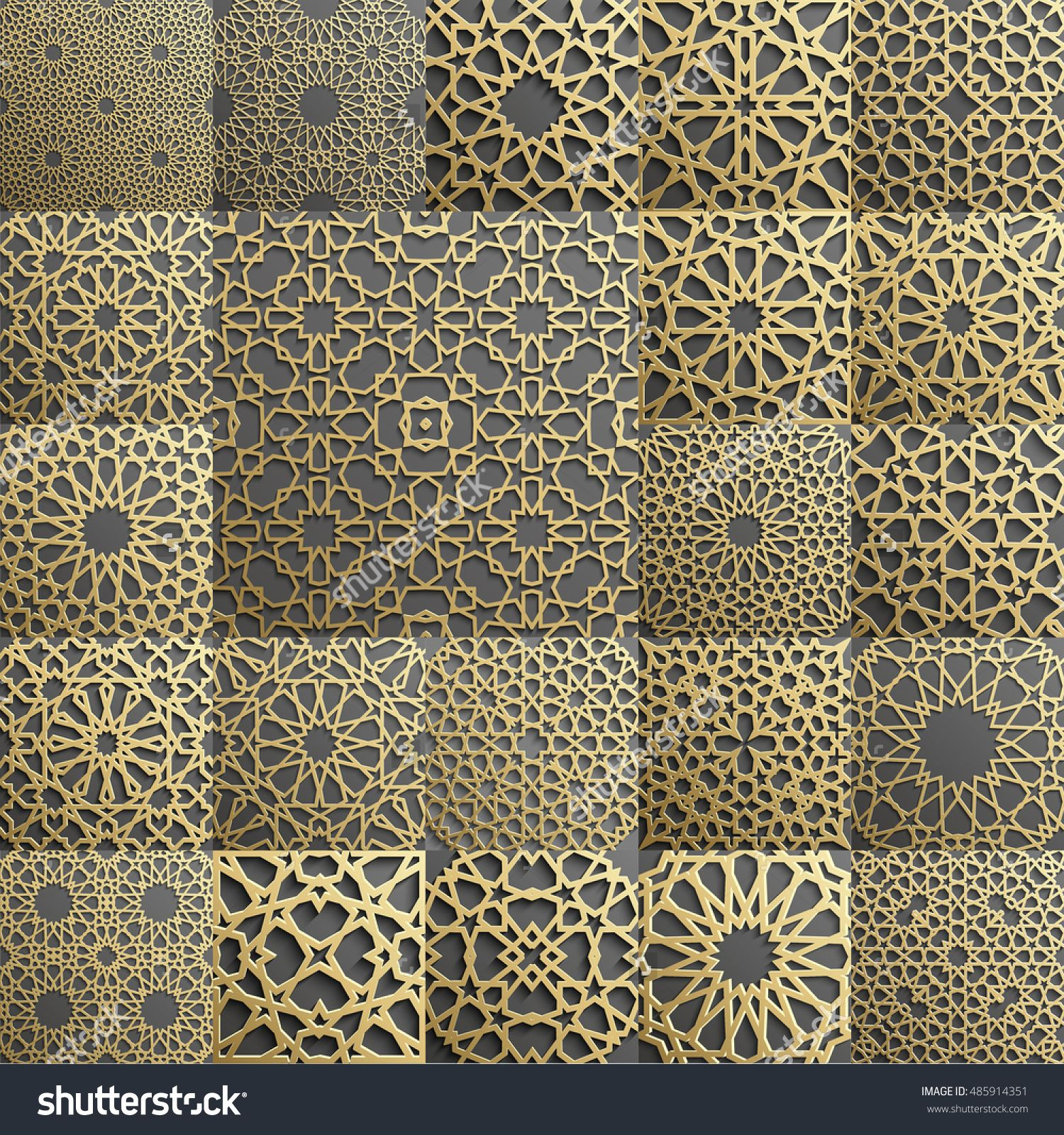 Islamic Pattern Seamless Arabic Geometric Pattern East Ornament - Carved wood lace like lighting design inspired islamic decoration patterns