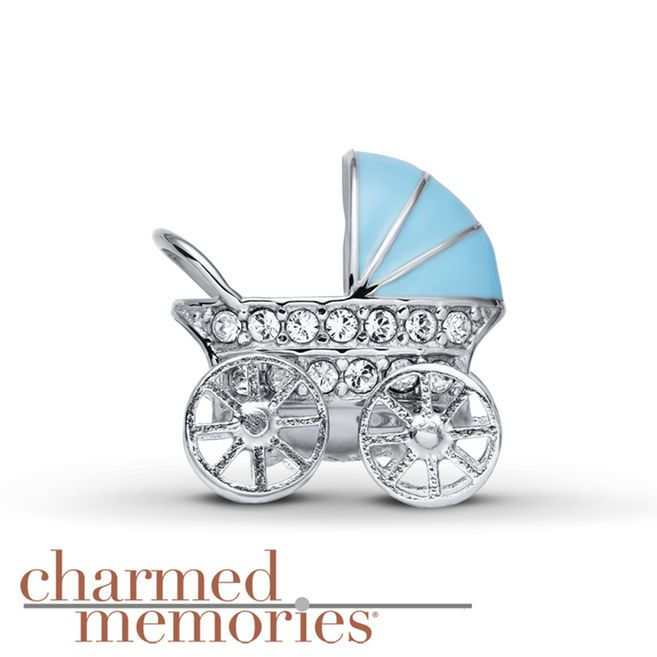 Charmed Memories Carriage Charm Pink Enamel Sterling Silver GSJ4t