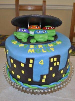 Teenage Mutant Ninja Turtles Cake Ideas Ninja turtles Turtle and