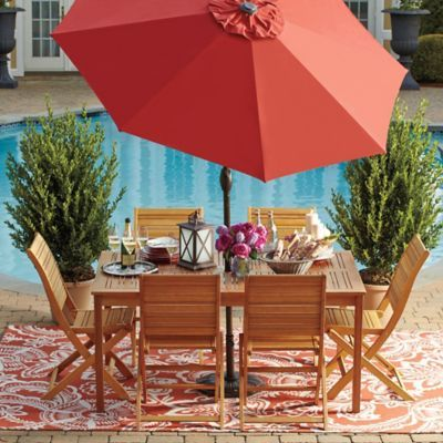 Westerly Acacia Wood Patio Collection Bedbathandbeyond Com With Images Patio Set Diy