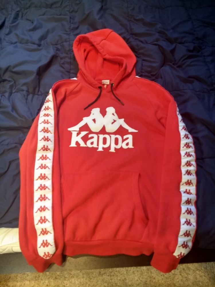d119a379028f Kappa Men s New Long Sleeve Sweatshirt Hooded Hoodie Pullover RARE Red XL   fashion  clothing  shoes  accessories  mensclothing  activewear (ebay link)