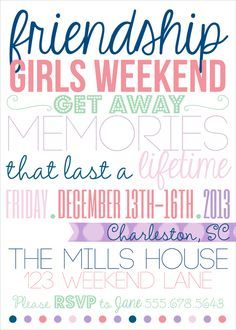 Pin by Daryla Morgan on Girls WEEKEND | Girls weekend quotes ...