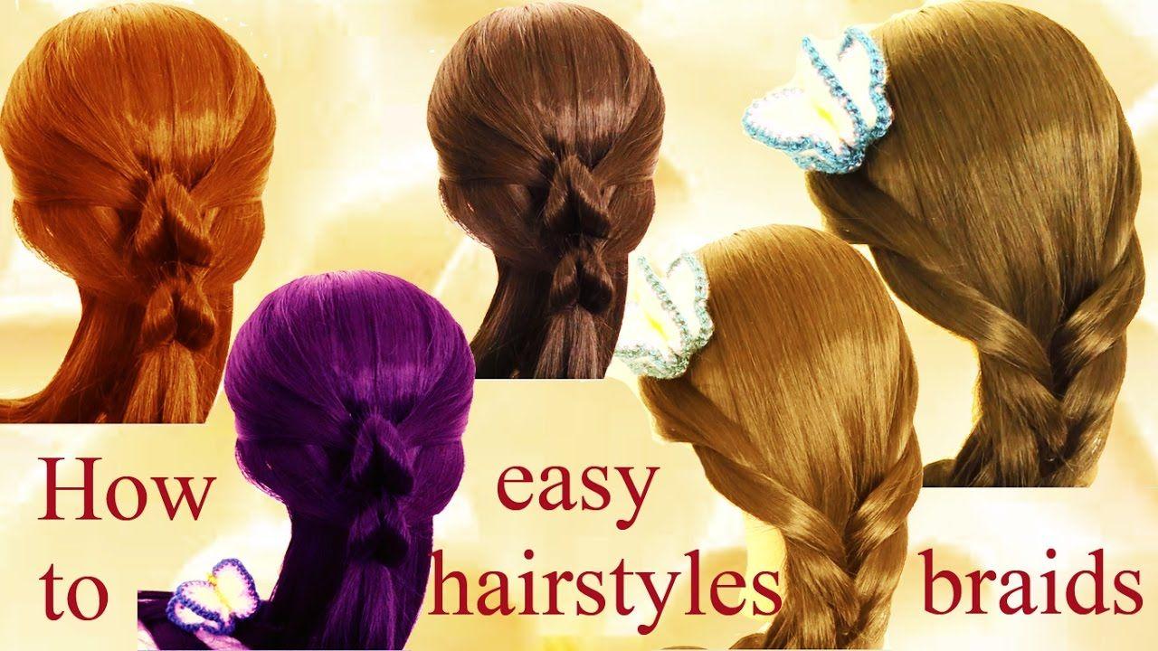 Como hacer trenzas y peinados fácil peinados lindos y fáciles paso