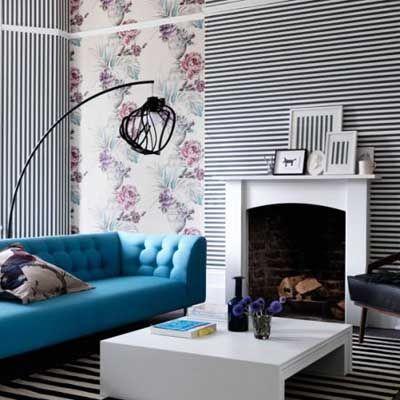 20 salones comedores modernos decorados con papel pintado - Imagenes De Salones Decorados