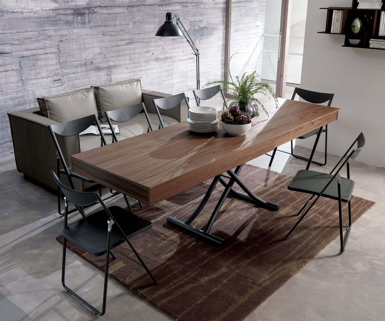 Ozzio Newood Tisch T123 | Couchtisch ausziehbar, Tisch und