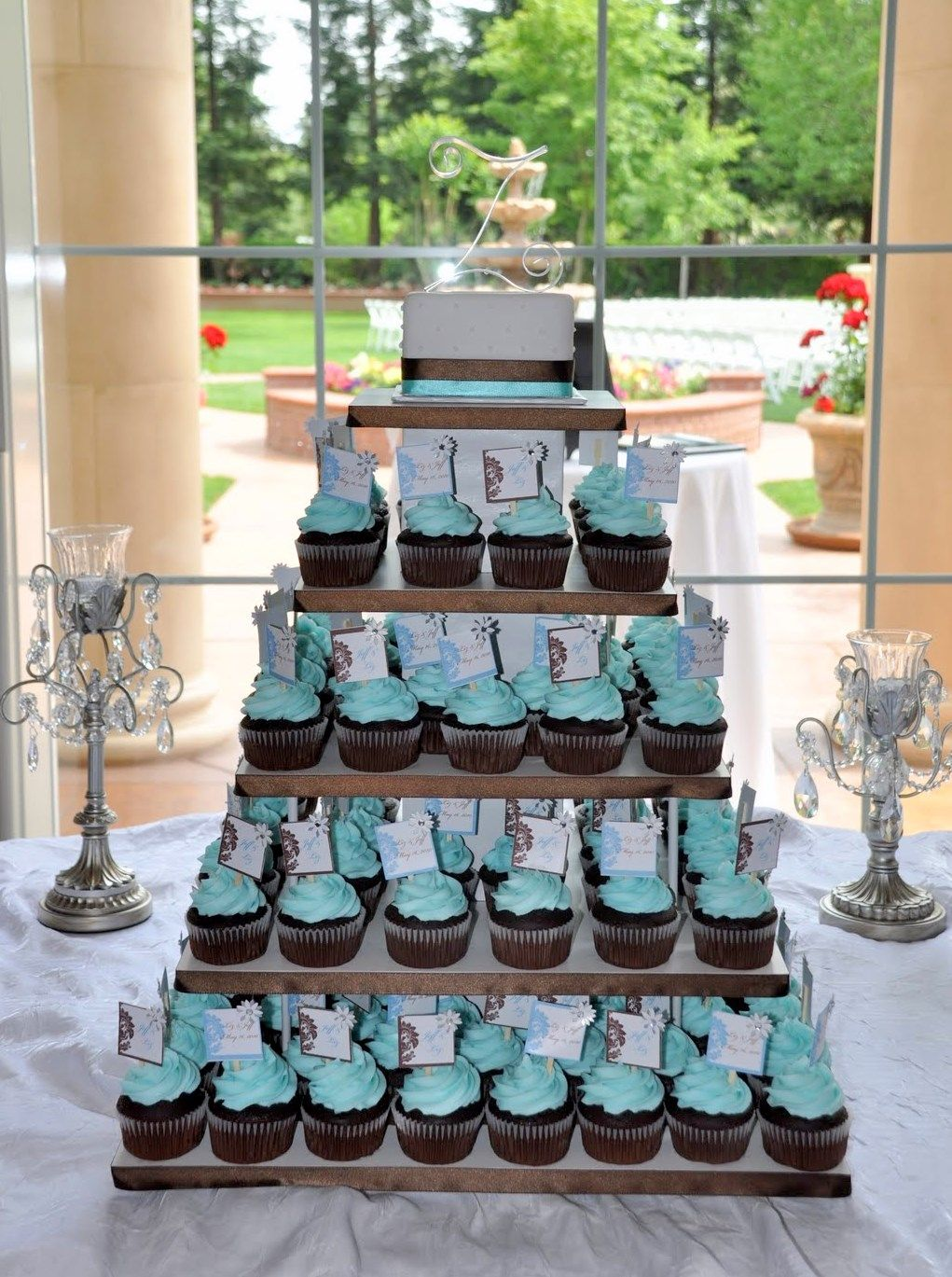 tiffany blue cupcake wedding cake blue wedding cupcakes wedding wedding ideas and 20998