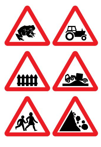road signs and symbols are medium of communication on the road