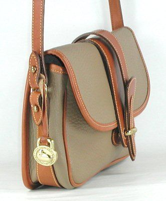Authentic Dooney And Bourke All Weather Leather R53 Small Equestrian Handbag