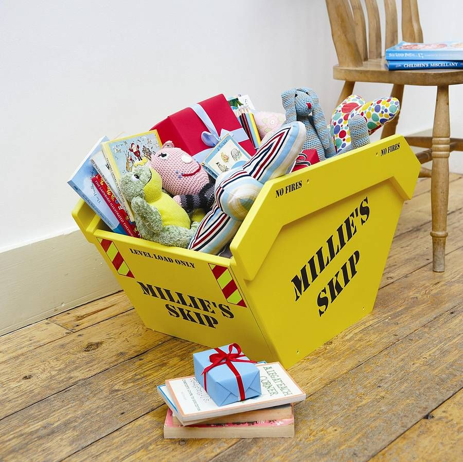 Toy Skip Toy Box With Personalised Option By Bluewell Theme Beds |  Notonthehighstreet.com. Kid Toy StorageStorage IdeasThomas ...
