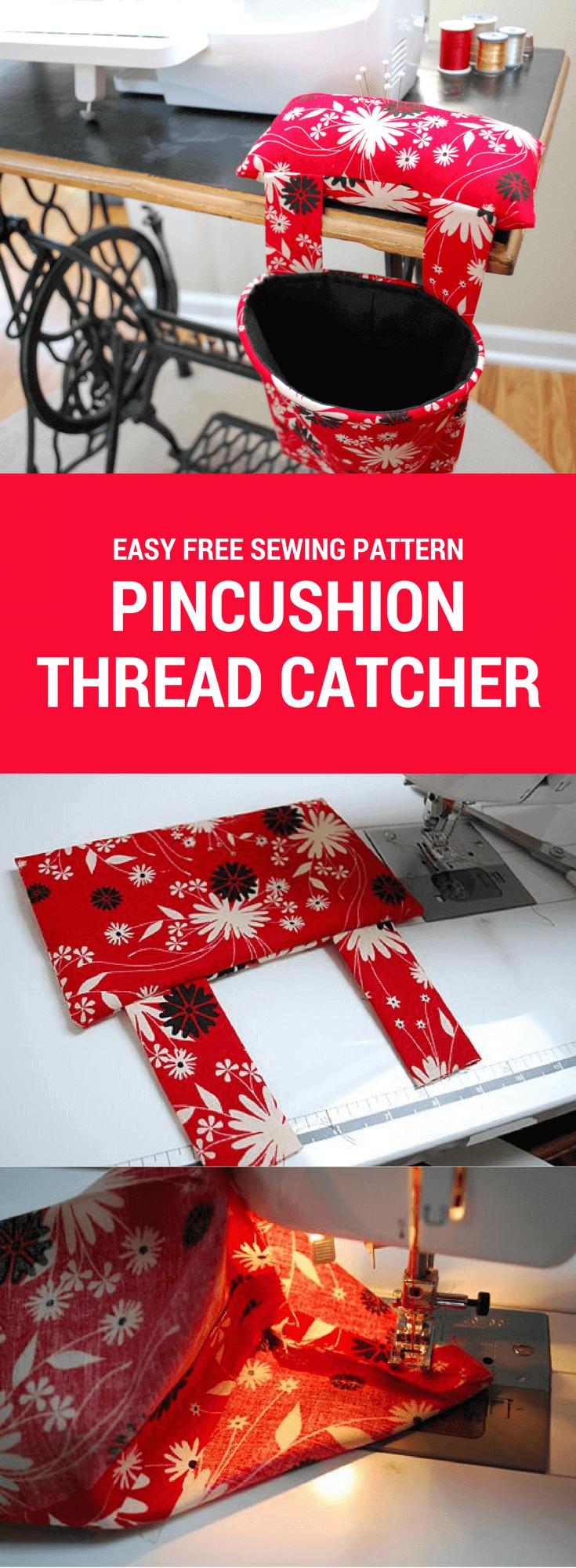 Pincushion thread catcher | Nähen