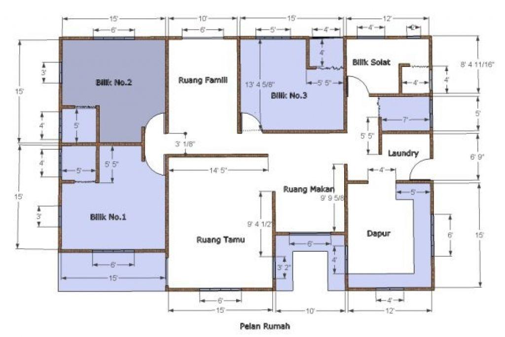 Pelan Rumah 20 30 House Blueprints Floor Plans House Plans