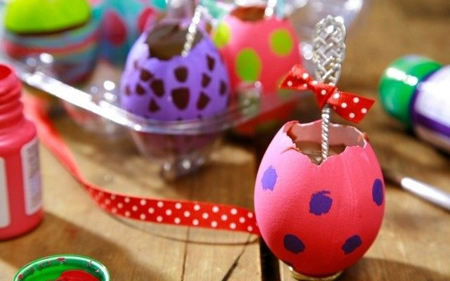 Easter gift ideas kids adults painted egg shells melted chocolate easter gift ideas kids adults painted egg shells negle Image collections
