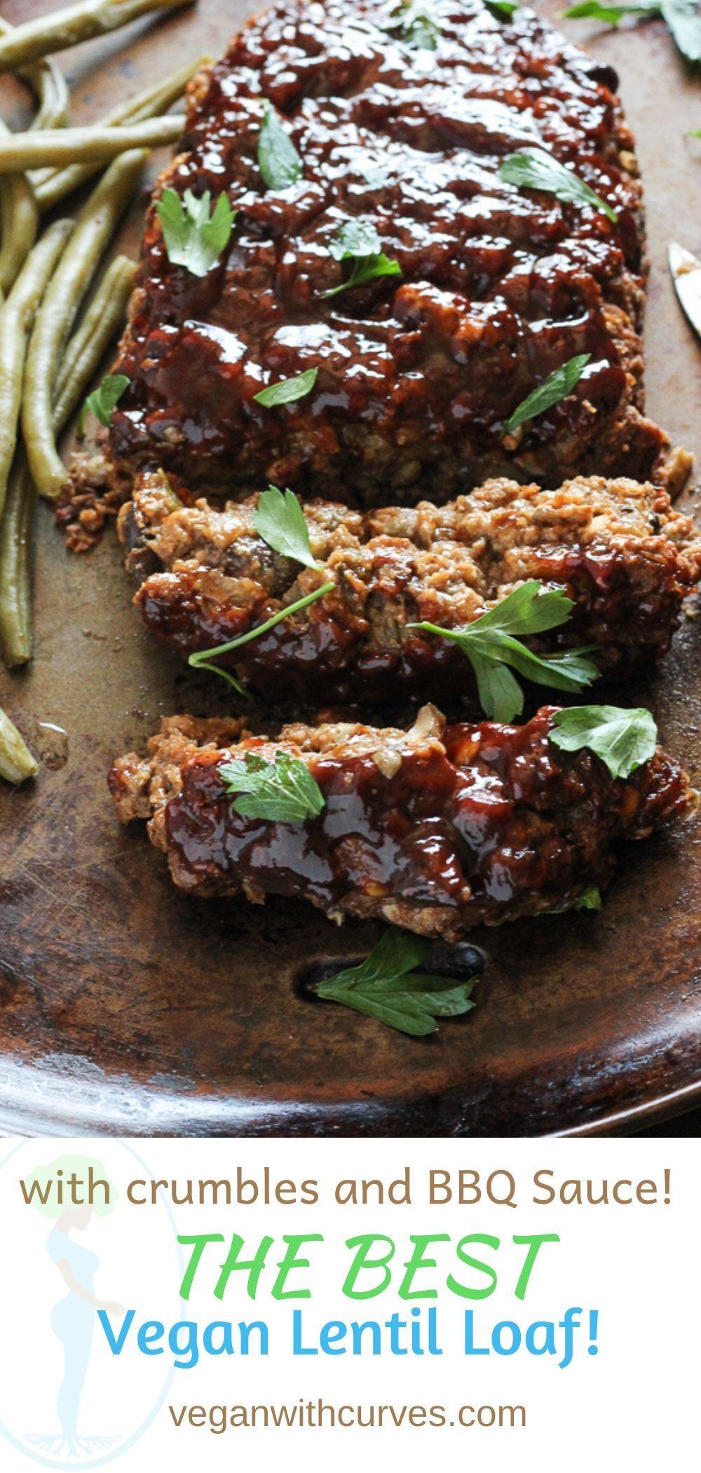 Beefy Vegan Lentil Loaf Recipe Vegan Meat Recipe Vegan Ground Beef Lentil Loaf