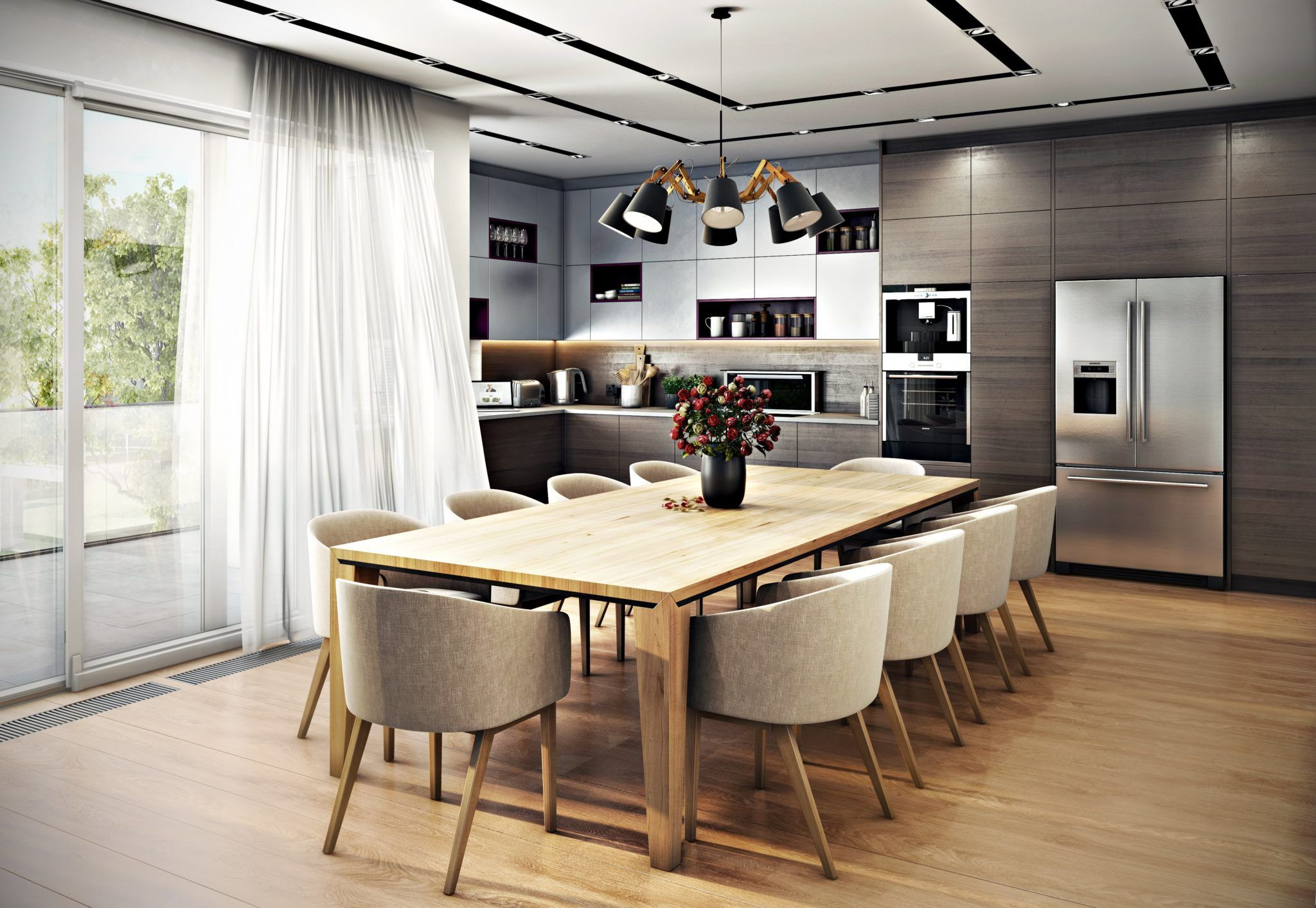 furniture interior study and nera rendering fixtures room portfolio dining design