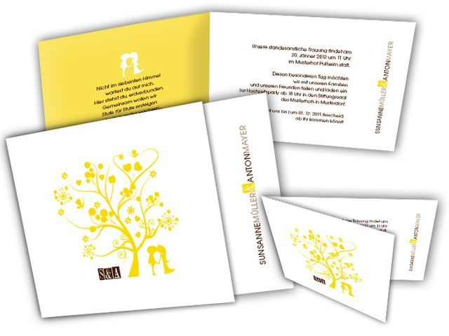 Hochzeitseinladungskarten+-+Modern+Lovetree