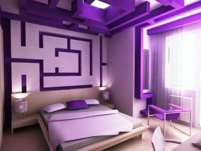 40 Ideen wie Sie lila Zimmer dekorieren