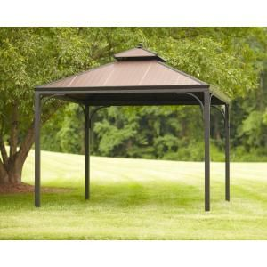 Hampton Bay Harper 10 Ft X 10 Ft Gazebo L Gz680pst M At The Home Depot Mobile Gazebo Hampton Bay Outdoor Gazebos