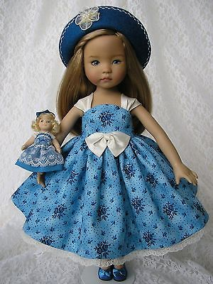 """Dress, tiny 'doll's doll', hat for 13"""" Dianna Effner Little Darling Tomi Jane #3"""