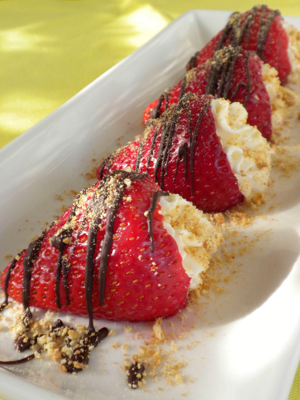 recipe: cheesecake stuffed strawberries pinterest [18]