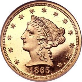 Liberty Head 1865 2 5 Pf Coins Old Coins Rare Coins