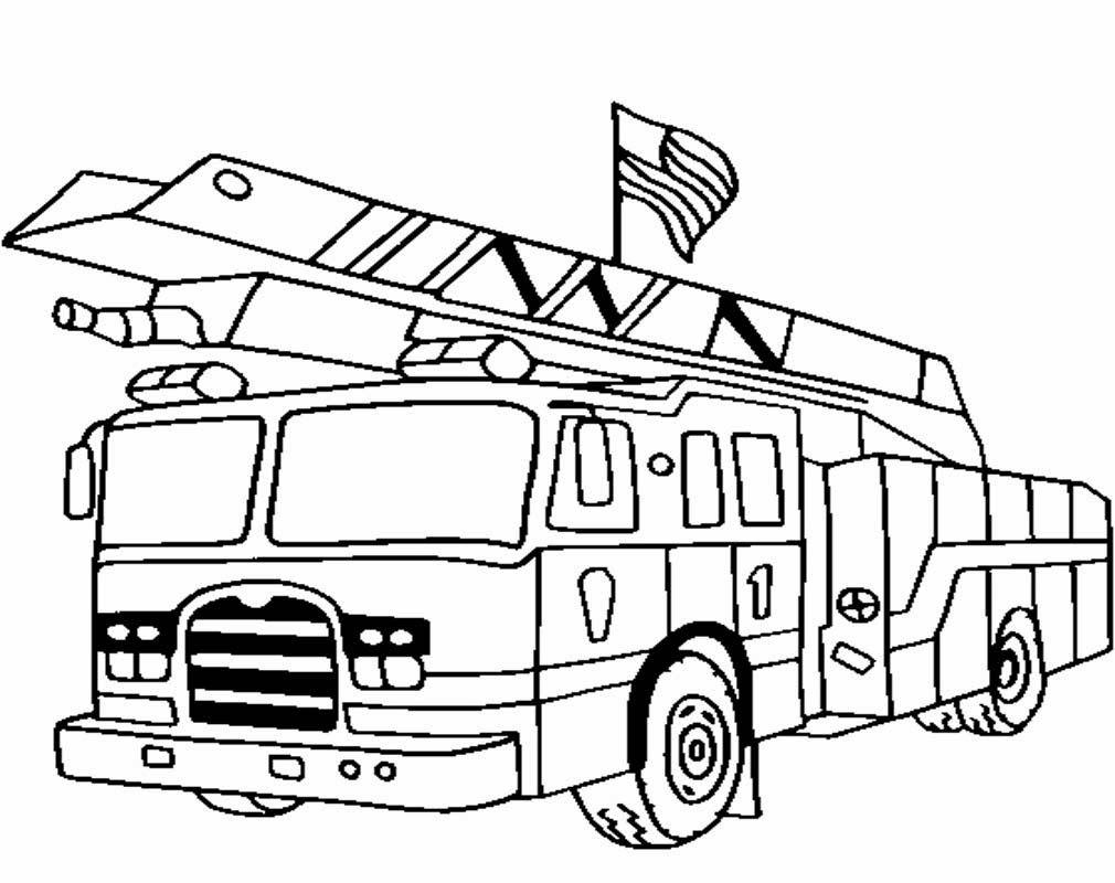 lkw ausmalbilder kostenlos | firetruck coloring page
