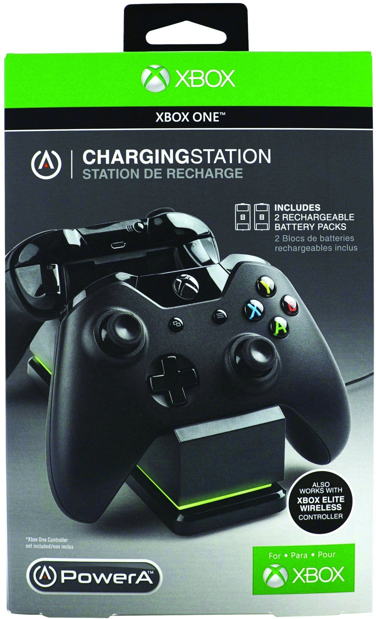 Charging Station with Elite Door for Xbox One- Black | Game ON