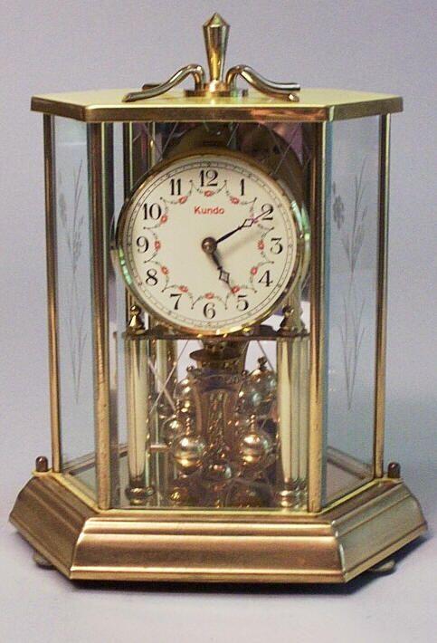 d29d0849b63 1970 Kieninger   Obergfell Kundo German Anniversary Clock Description  This  is a circa 1976 Kundo 400 Day Anniversary Clock in an oct.