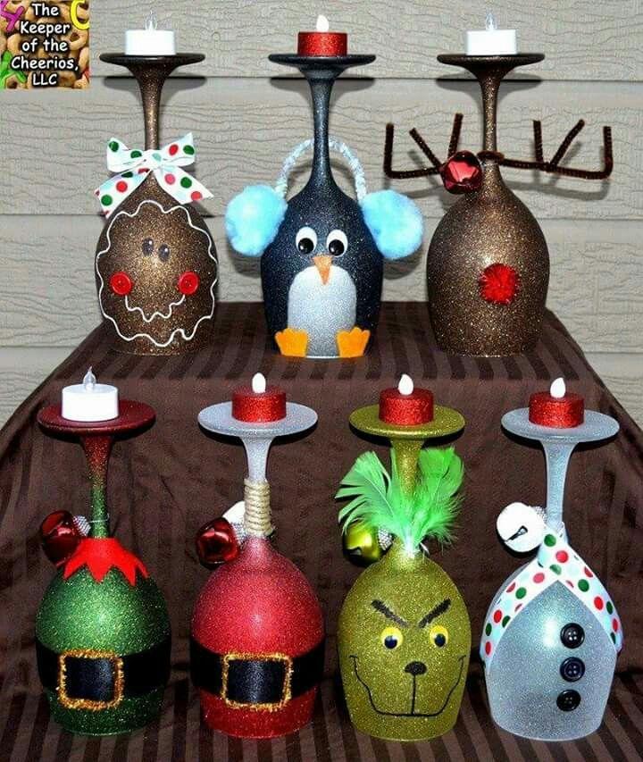 Cute Christmas Candle Holders (Cool Paintings Easy) - Deco noel ...