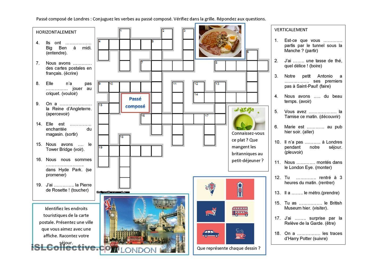 Passe Compose A Londres Verbe Prendre Verbe Conjugaison