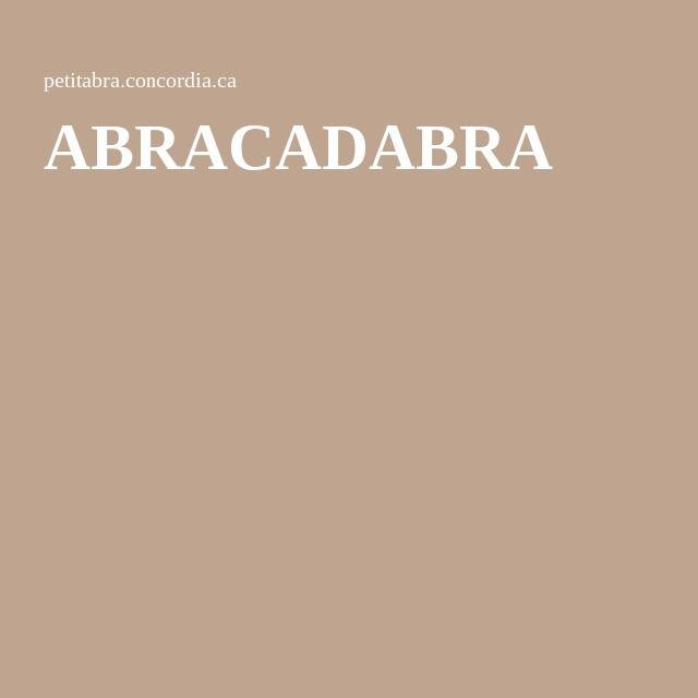 ABRACADABRA - exercices de lecture en ligne (sous forme de ...