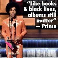 """RIP Prince """"Like Books & Black Lives, Albums still Matter"""" Prince image from """"My 2015 GRAMMY Awards Recap"""" by Awesomely Luvvie"""
