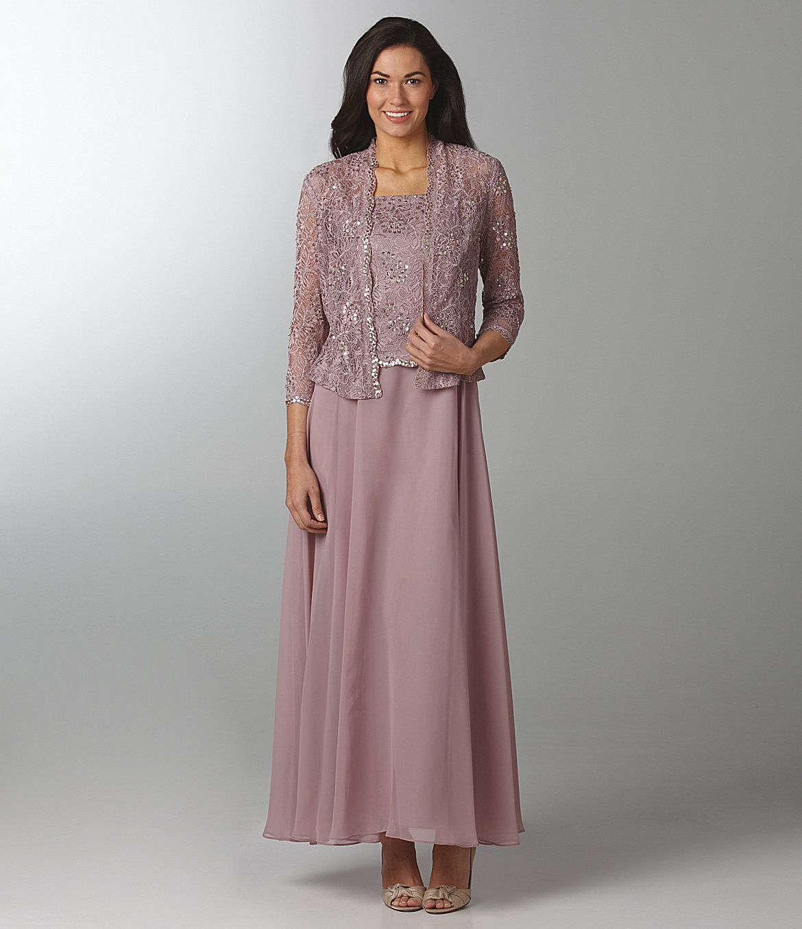 Lace Jacket Dress, Mauve Bridesmaid Dress