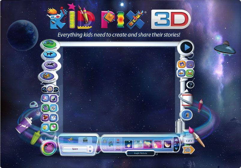 KID PIX 3D School kids crafts, Online painting, Art