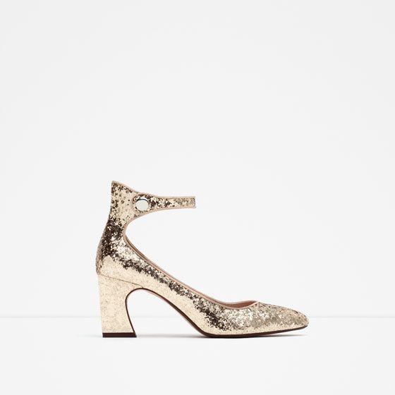 Zara High In Heel New Shoes Glitter cF1lKT3J