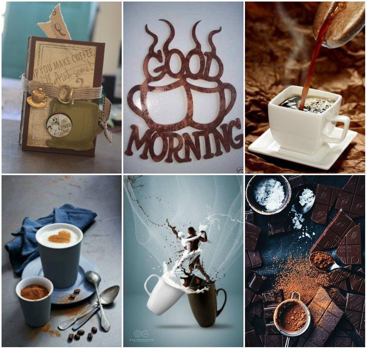 Открытка, картинки коллажи с добрым утром