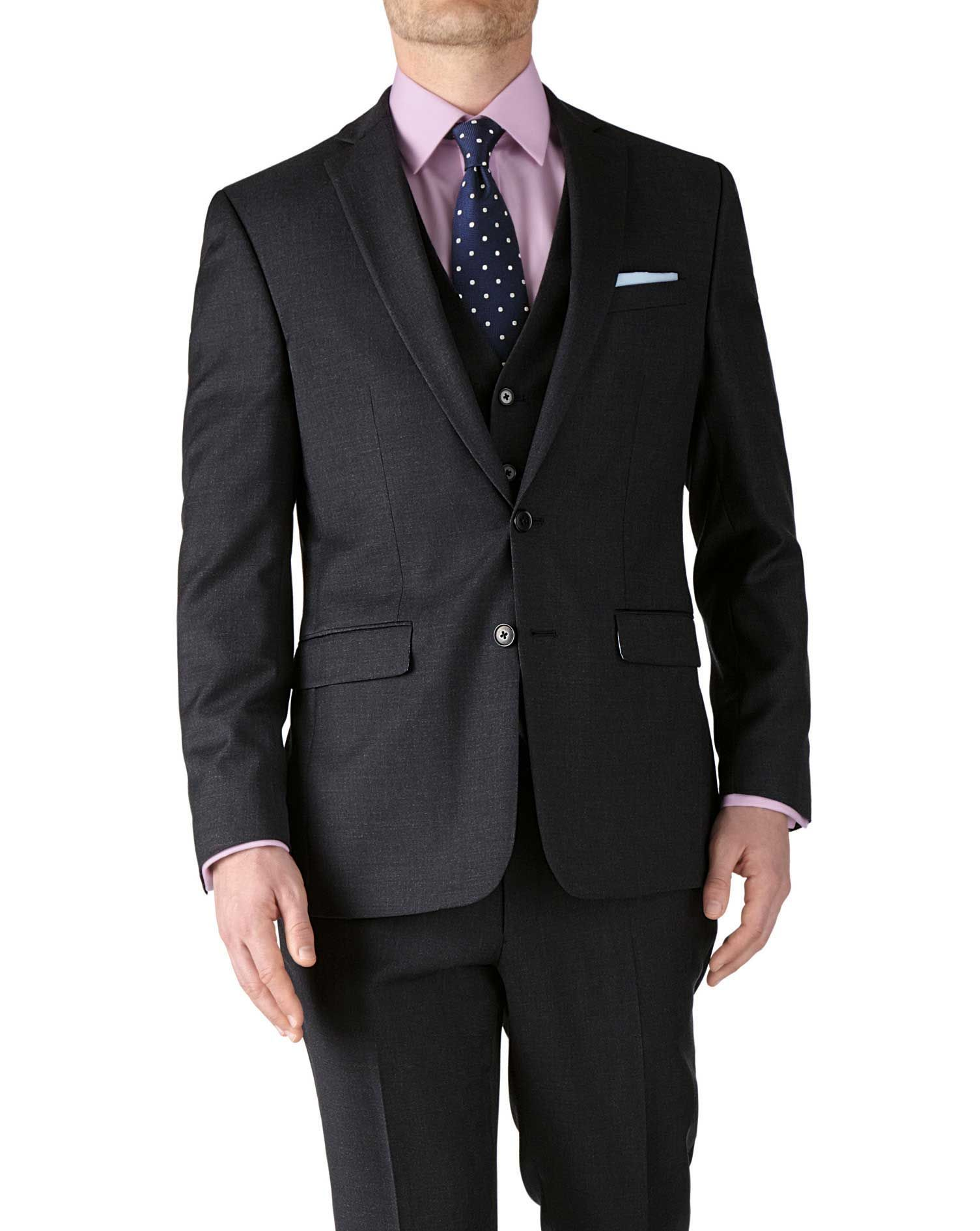 6903472eac6b Charcoal slim fit twill business suit jacket | Covetousness | Mens ...