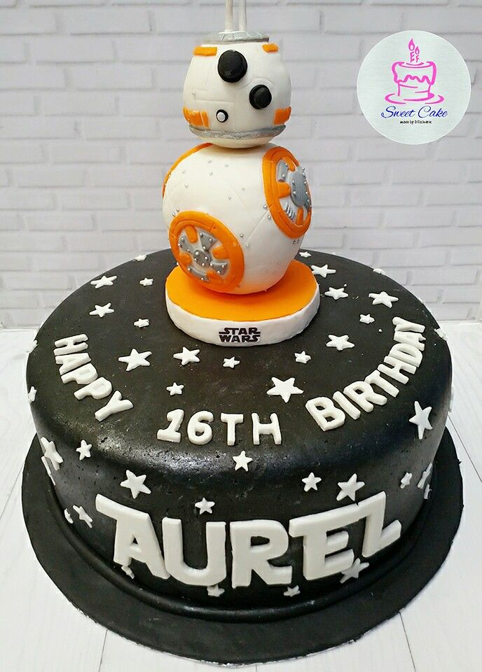 Robo Bb 8 Cake Star Wars