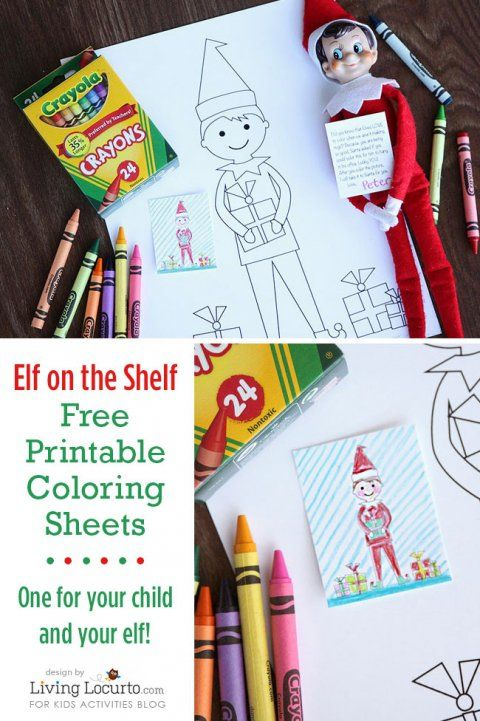 Elf On The Shelf Coloring Pages For Kids And Elves Elf Fun Elf Antics Christmas Elf