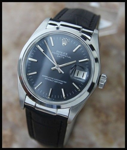 6e6049e4198 VINTAGE MEN'S SWISS ROLEX OYSTER PERPETUAL DATE 1500, c.1970s ...