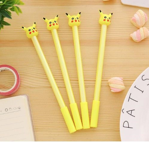 Pikachu Pokemon Gel Pen Kawaii Pen Yellow Stationary Supplies ... 7304a64c1ab9