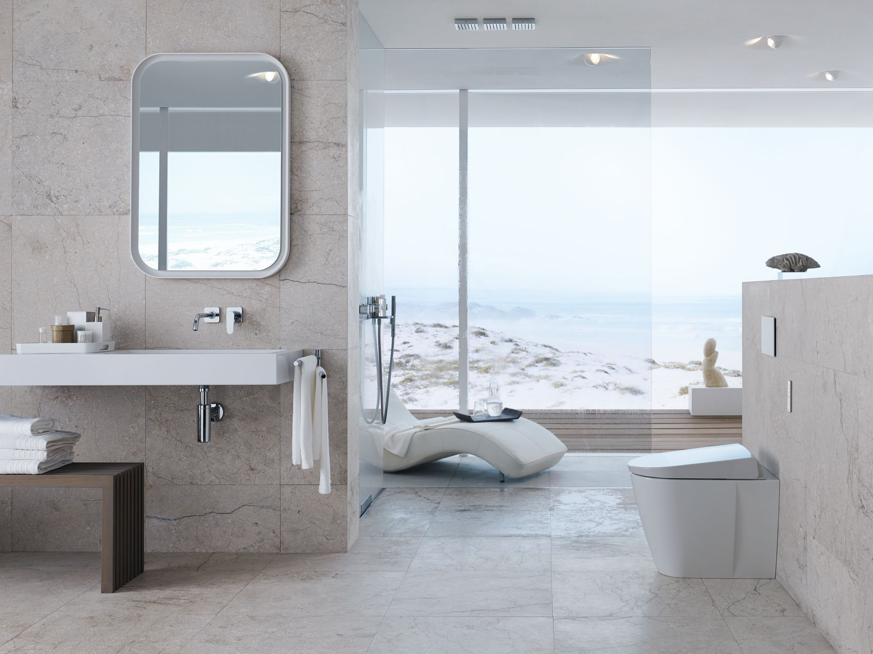 Sun Sand And Sea Bring Holiday Mood Into Your Bathroom And Enjoy Freshness Purity And Relaxation Geberitaqua Badezimmer Design Luxus Badezimmer Bad Design