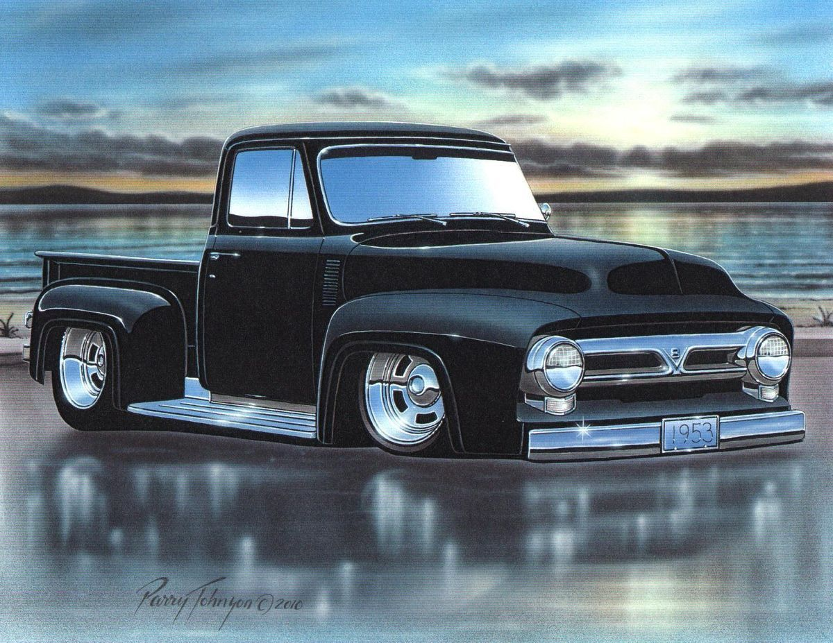 1953 Ford F100 Pickup Truck Hot Rod2 Bad Its A Good 1951 F1 Lookin Body