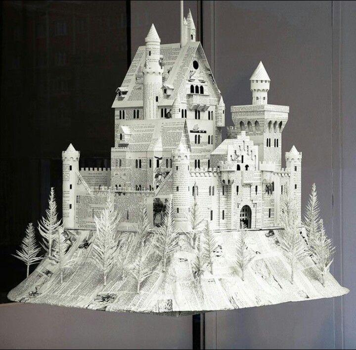 How to make 3d origami castle part 2    DIY paper castle - YouTube   706x720