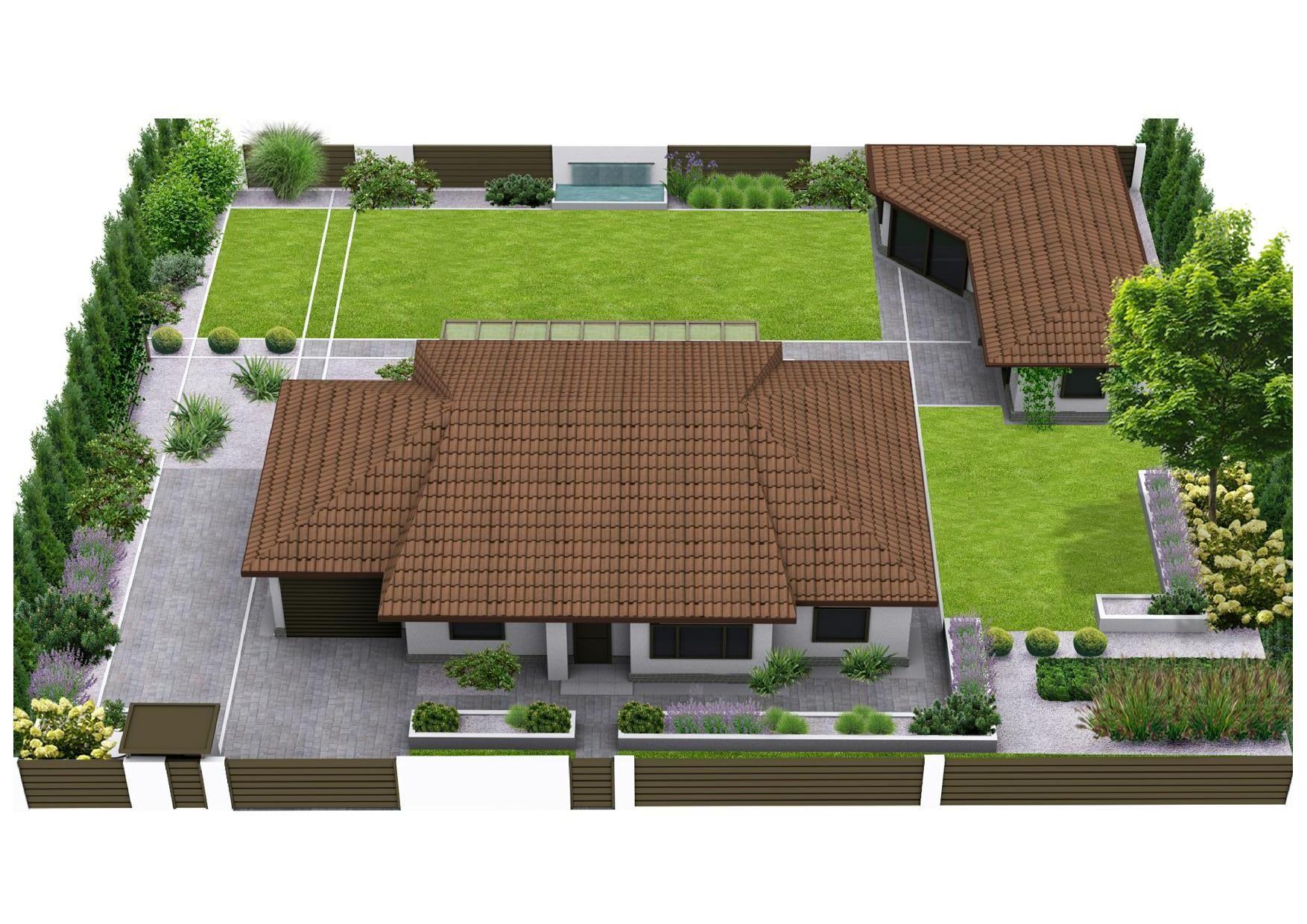 расположение дома и построек на участке фото лбу