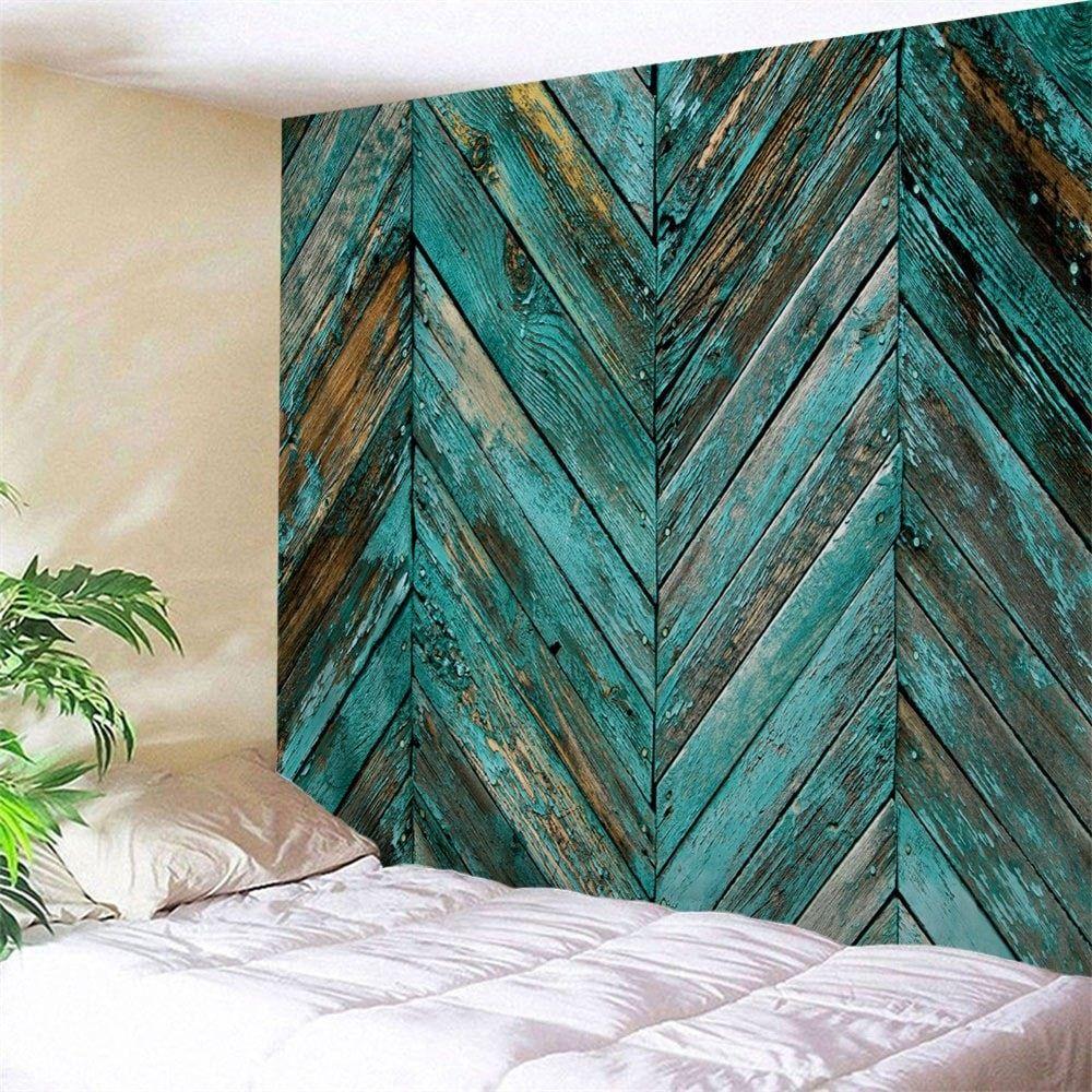 dresslily com photo gallery retro wooden board print on walls coveralls website id=57342