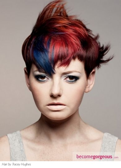 Pictures Hair Highlights Ideas Fabulous Red And Blue Hair