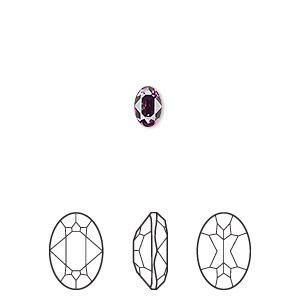 Embellishment, Swarovski® crystal rhinestone, amethyst