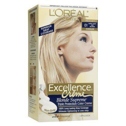 L'Oreal Paris Excellence Triple Protection Permanent Hair Color - 01 Extra Light Ash Blonde - 1 Kit #lightashblonde