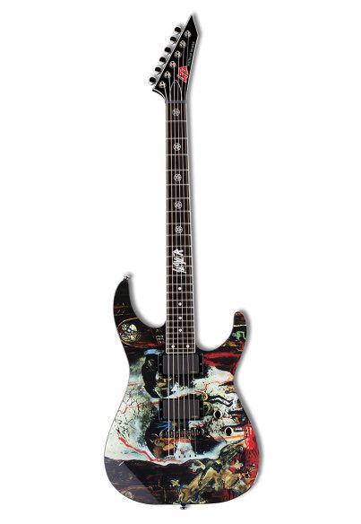 ESP LTD Slayer 2012 South of Heaven's skull artwork (via Reverb)