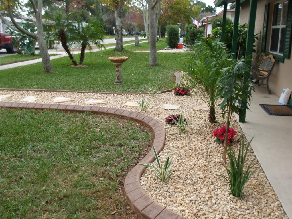 Pebble Stone Landscape Design And Good Rock Landscaping Ideas For